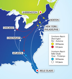 Carte Usa Canada Cote Est.Largest Fresh Vegetables Producer In Canada Agricultural Production
